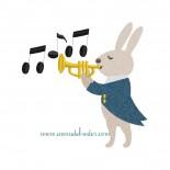 Lapin à la trompette