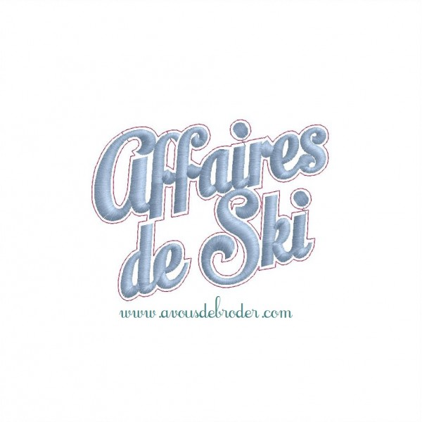 Ecusson Affaires de Ski