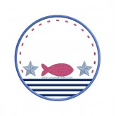 Fish & Stripes - Patch
