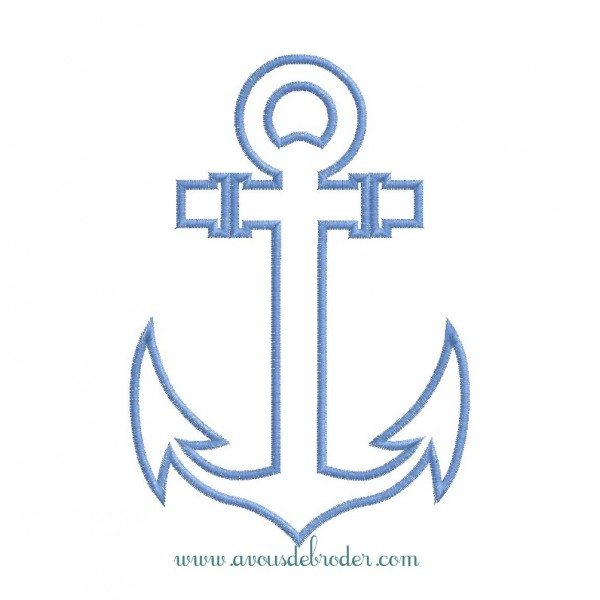 Ancre de marine appliqu - Ancre marine dessin ...