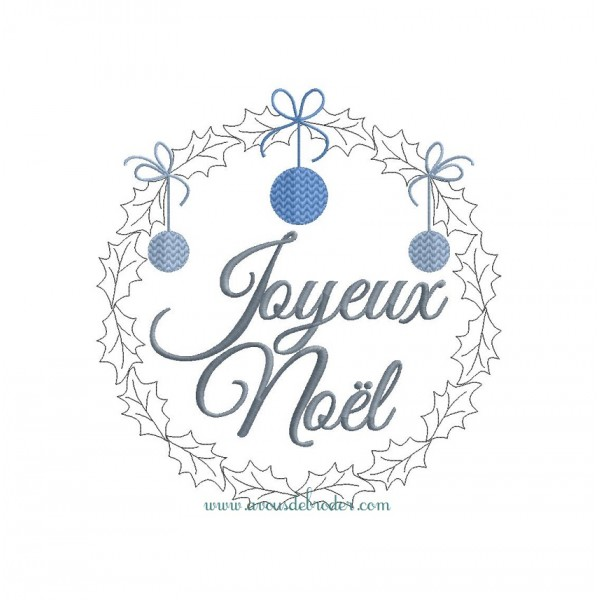 Joyeux noel couronne houx rw - Guirlande joyeux noel ...