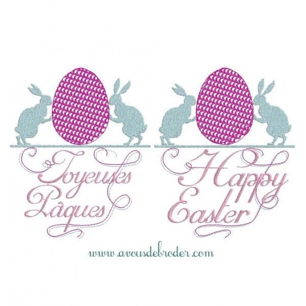 Oeuf et lapins de Pâques