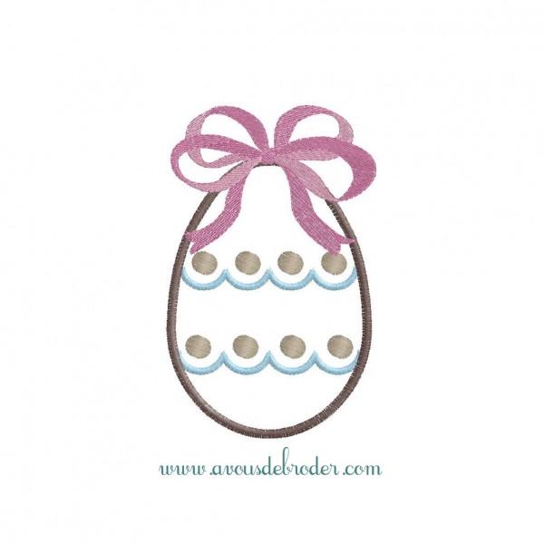 Oeuf de Pâques - appliqué
