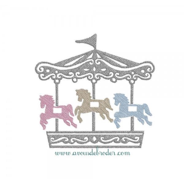 Carrousel Dessin carrousel a cheval