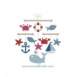 Mobile bébé - thème marin