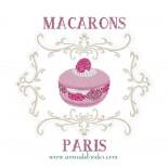 Macaron Framboise avec Cadre